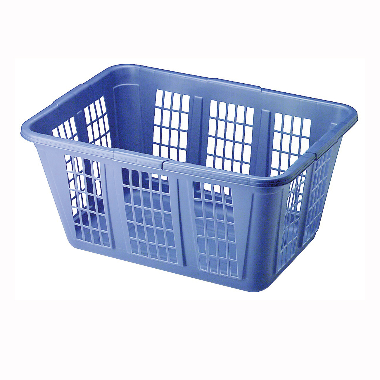 Picture of Rubbermaid FG296585ROYBL Laundry Basket, 1.6 bu Capacity, Plastic, Royal Blue, 1-Compartment