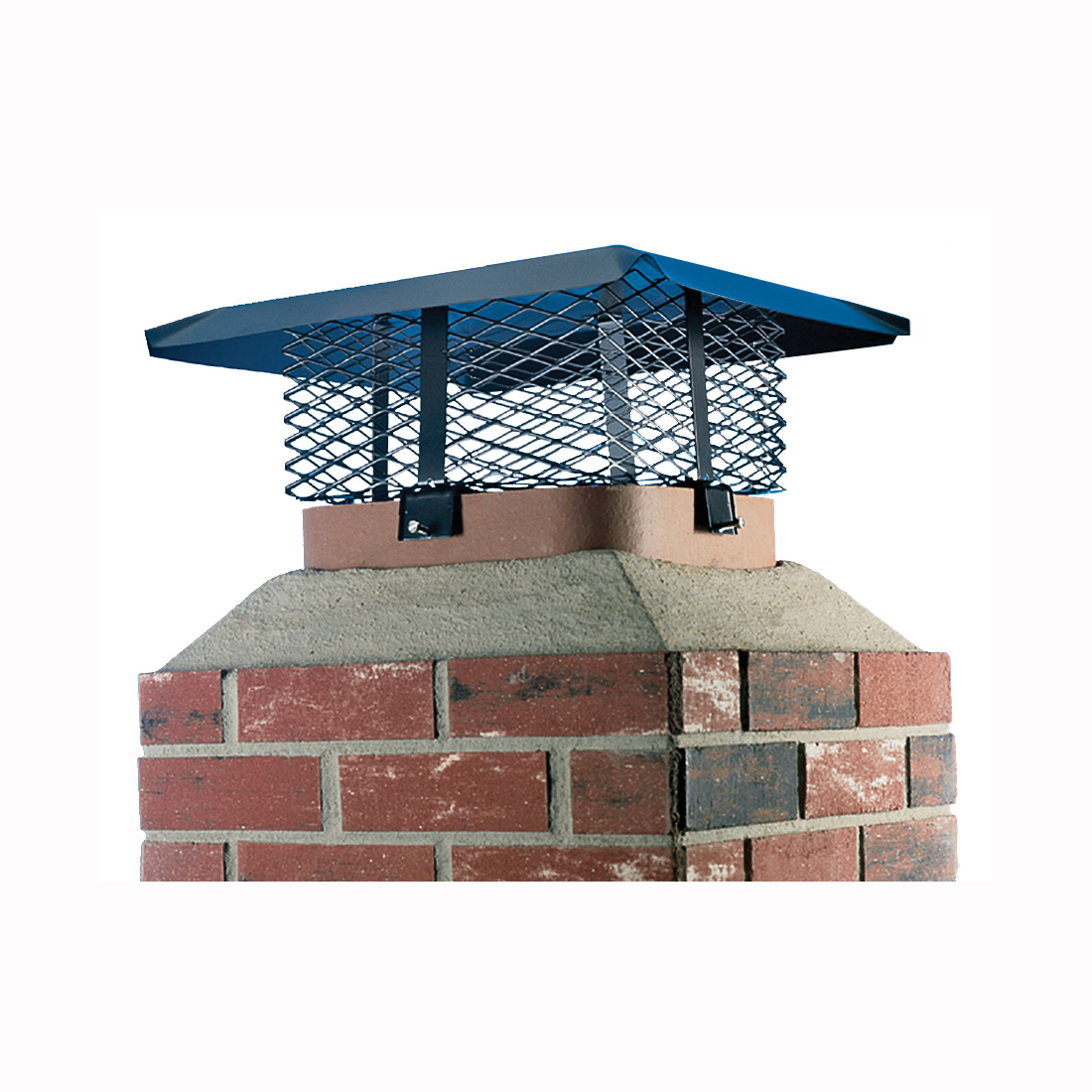 Picture of SHELTER SCADJ-S Adjustable Chimney Cap, Steel, Black, Powder-Coated, Fits Duct Size: 19-1/4 x 9-1/4 x 19-1/4 in