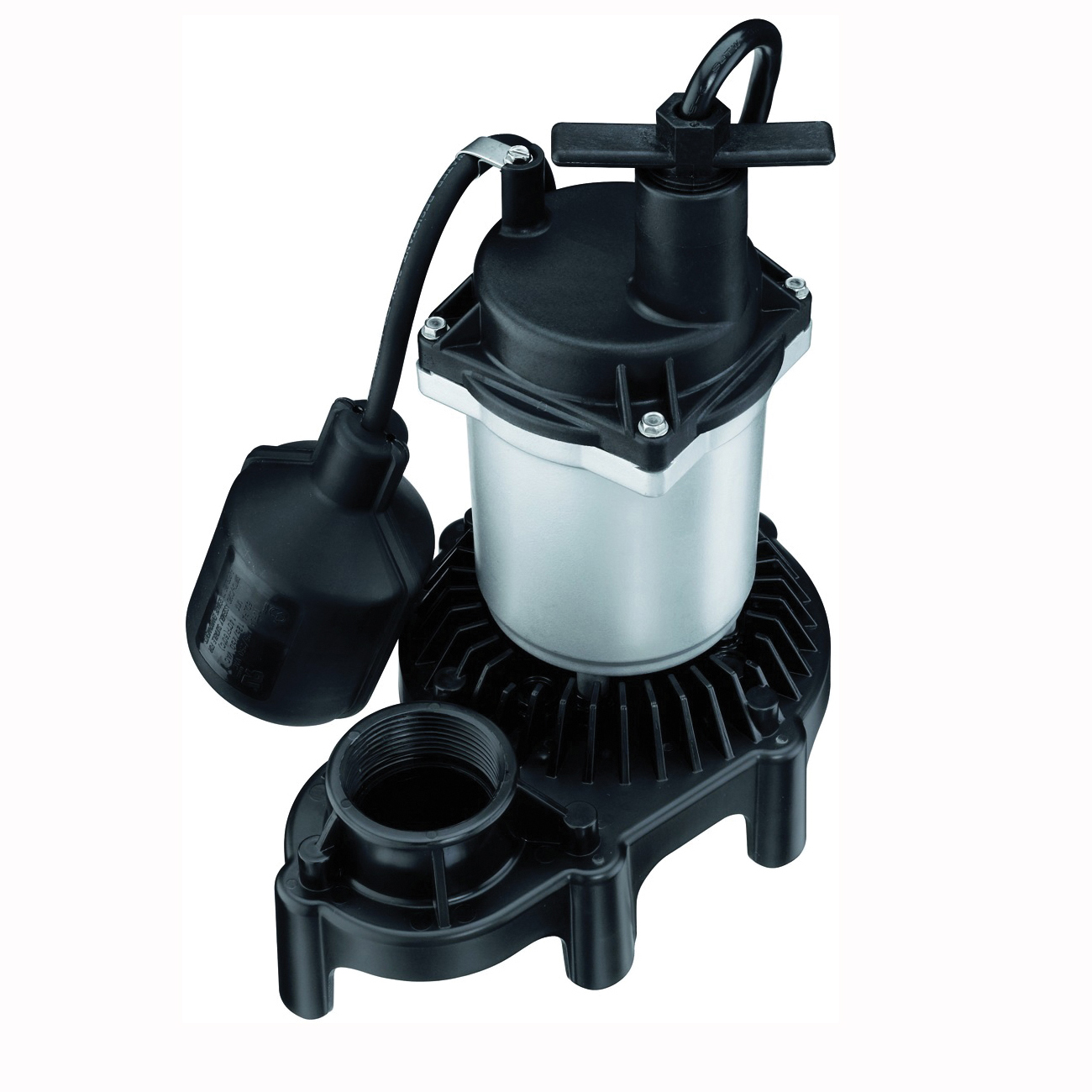 Picture of Flotec FPZS25T Sump Pump, 1-Phase, 3.9 A, 115 V, 0.25 hp, 1-1/2 in Outlet, 20 ft Max Head, 3200 gph