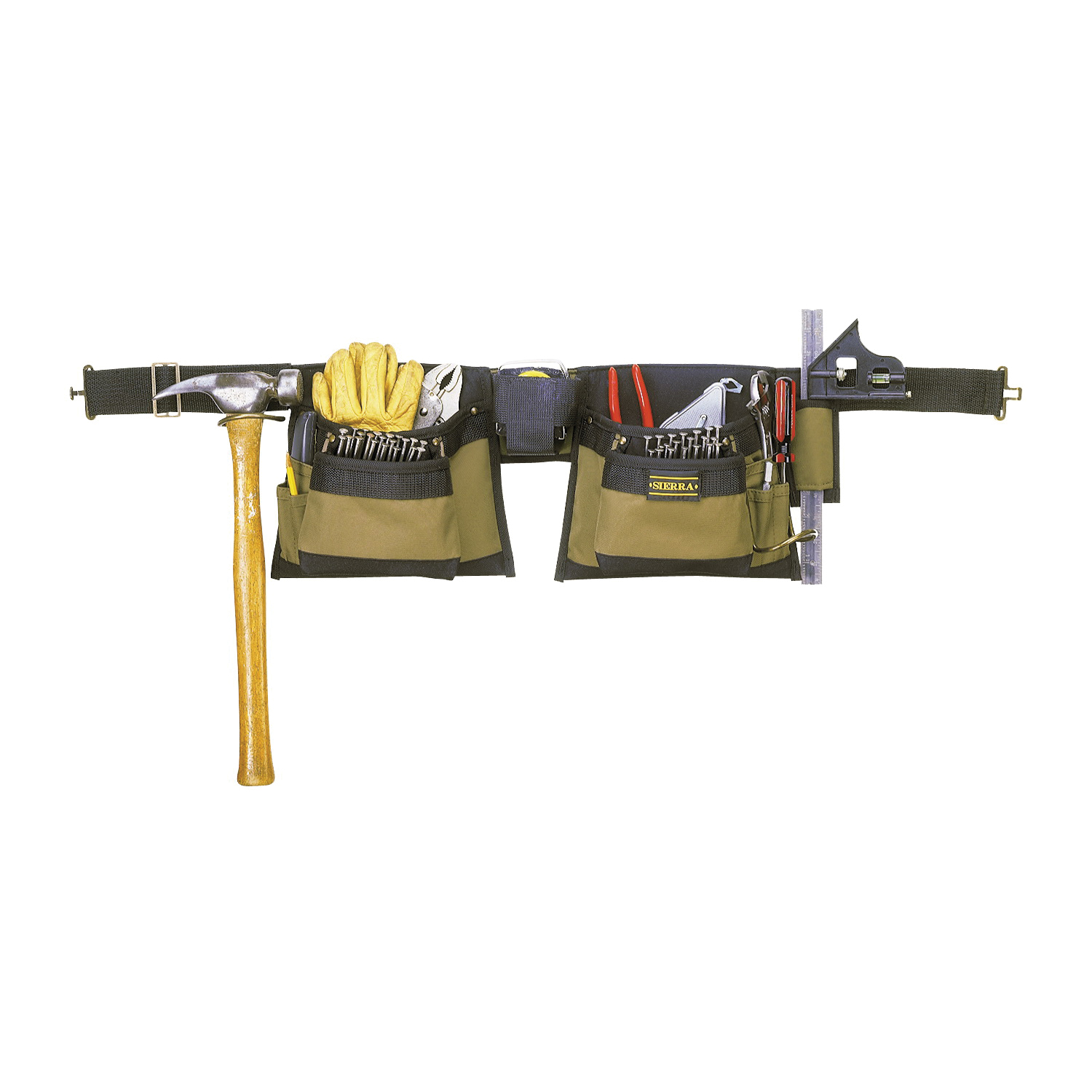 Picture of CLC Tool Works 1429 Tool Apron, 29 to 46 in Waist, Polyester, Brown, 12 -Pocket