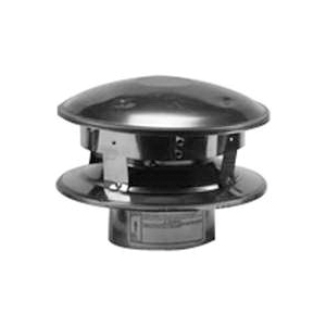 Picture of SELKIRK 243800 Vertical Termination Pipe Cap, 3 in ID x 8 in OD Dia, Galvanized