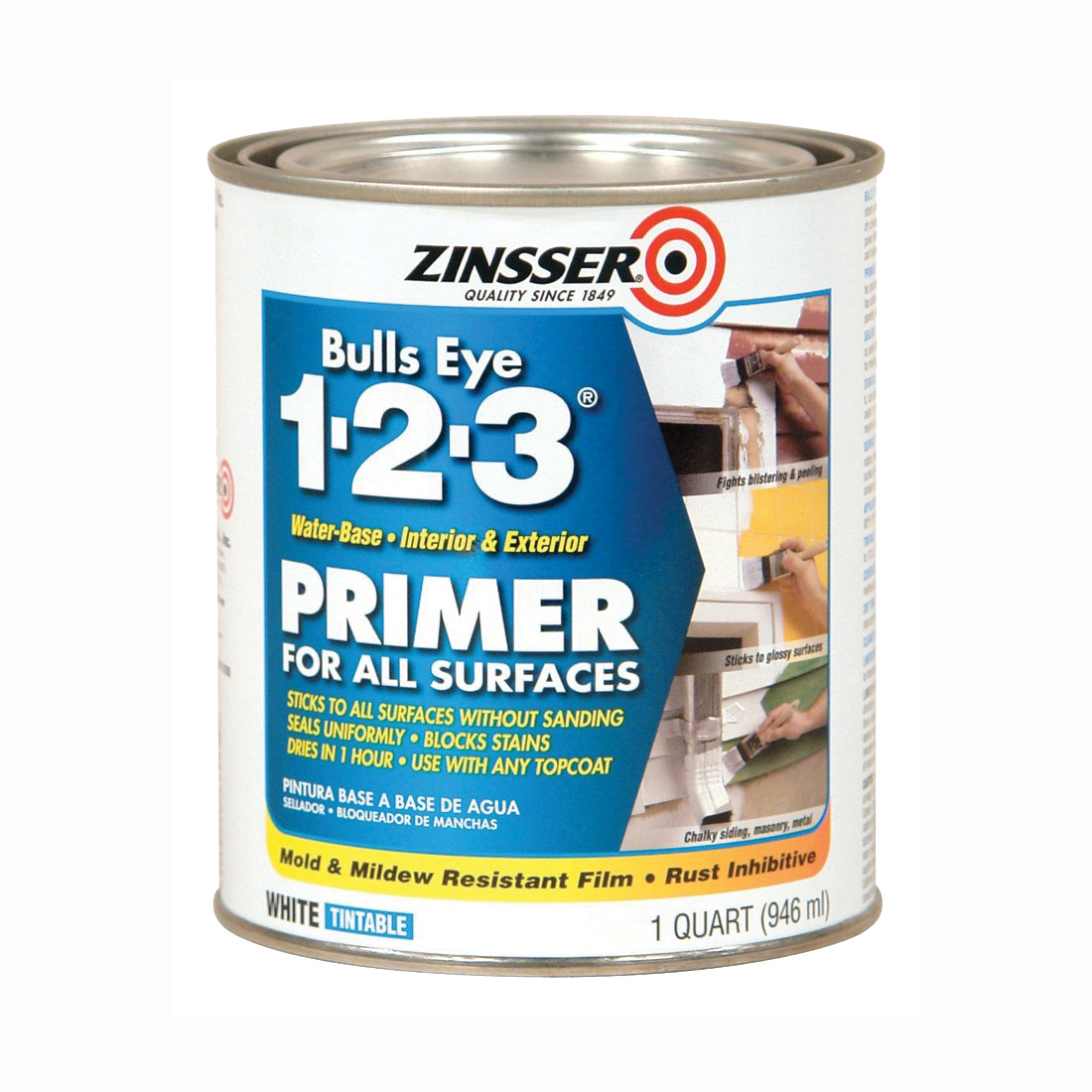 Picture of ZINSSER 02004 Primer, White, 1 qt