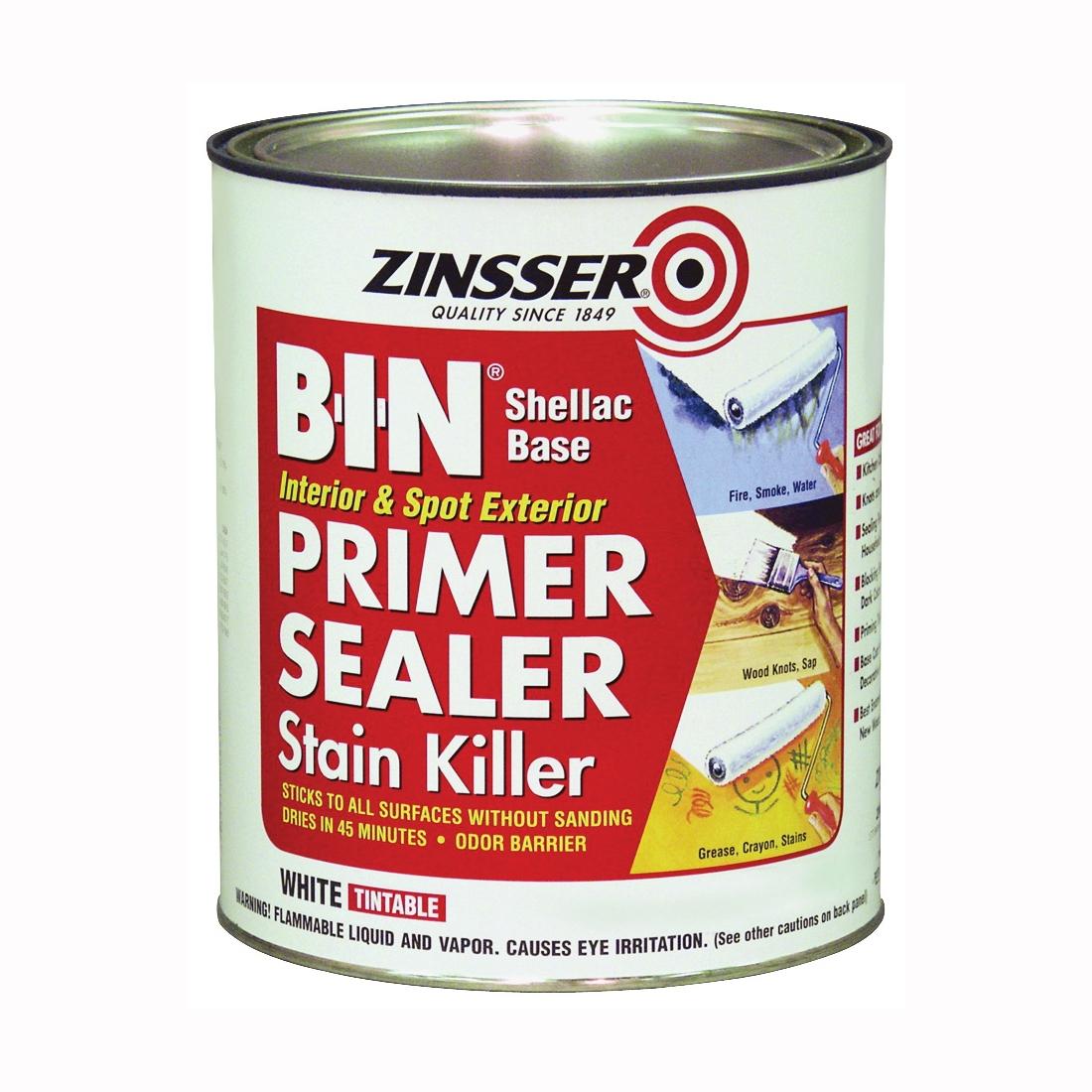 Picture of ZINSSER B-I-N 00904 Shellac-Base Primer, White, 1 qt
