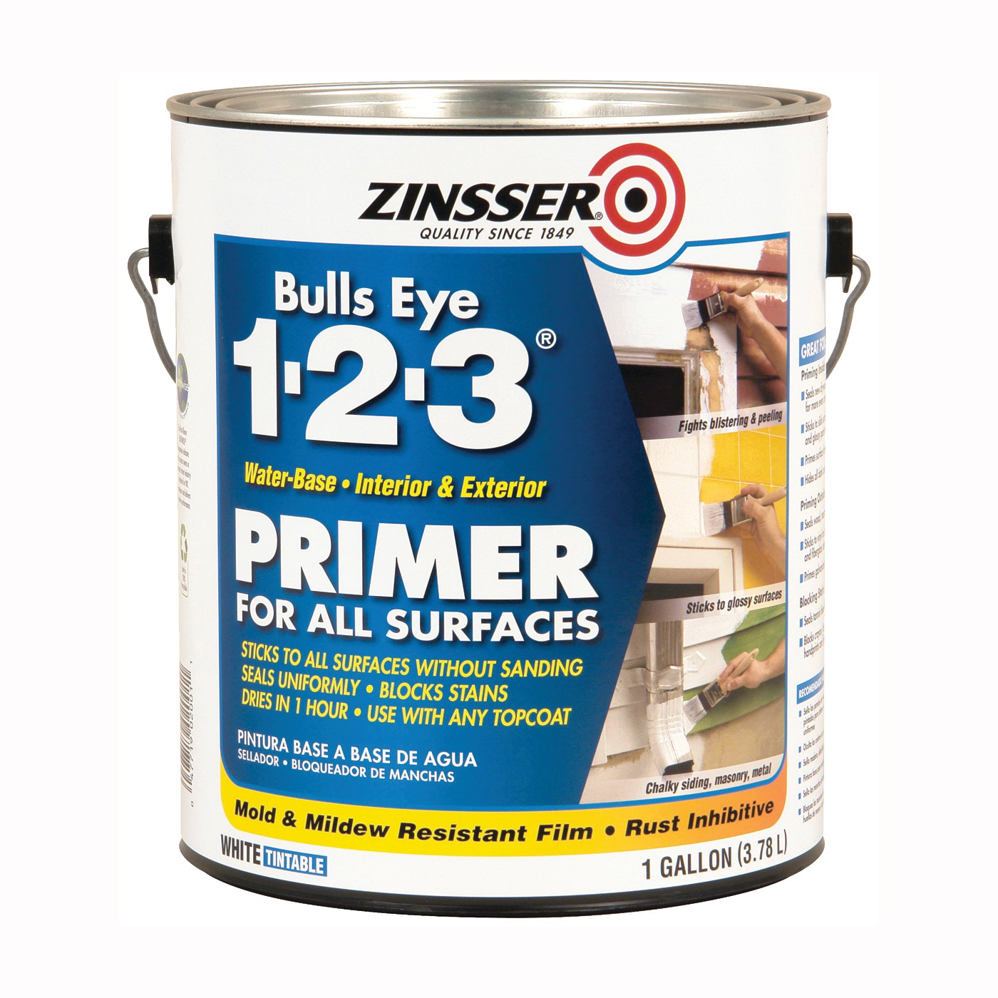 Picture of ZINSSER 02001 Primer, White, 1 gal