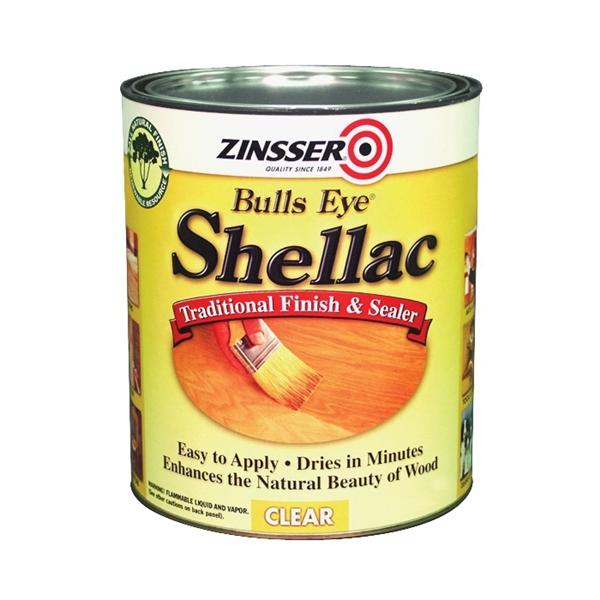 Picture of ZINSSER Bulls Eye 304H Shellac, Mid-Tone, Clear, Liquid, 1 qt, Can