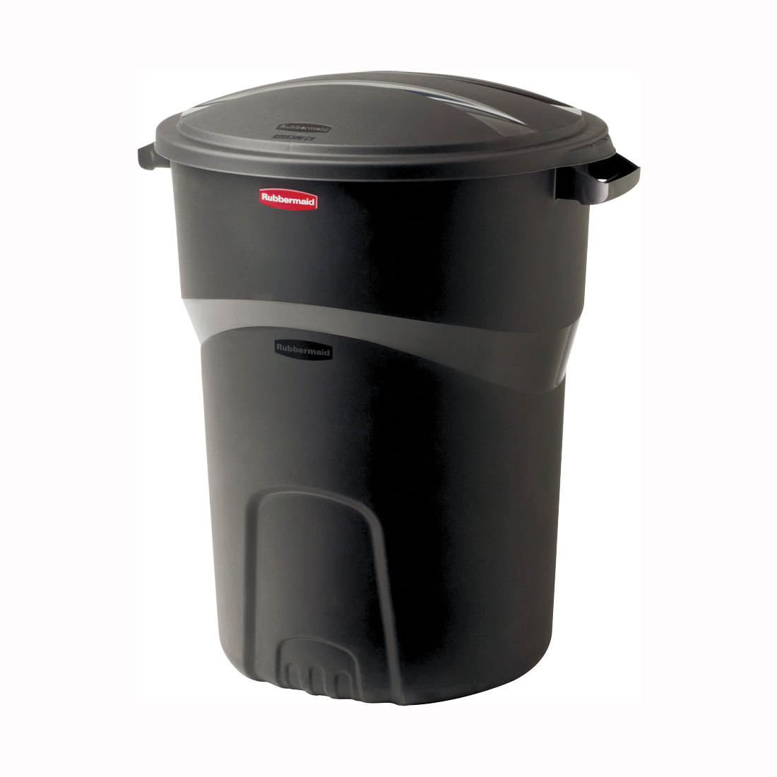 Picture of Rubbermaid 1793963 Refuse Container, 32 gal Capacity, Plastic, Black, Friction Lid Closure