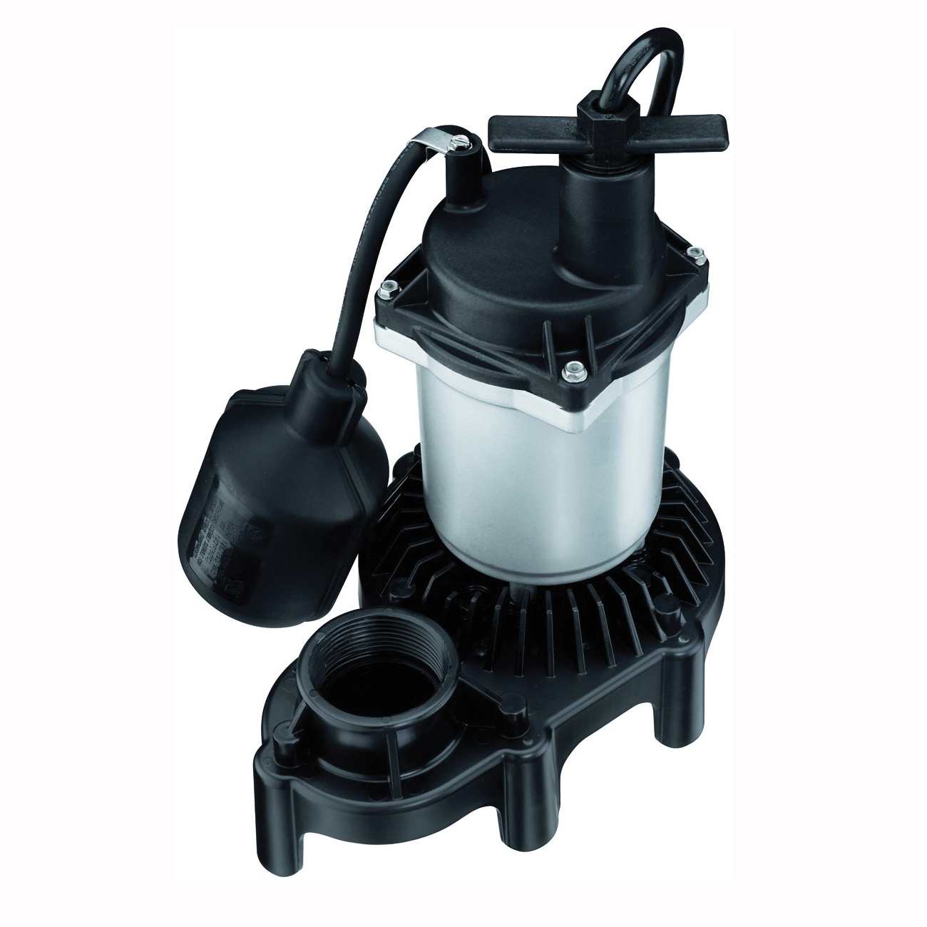 Picture of Sta-Rite Simer 2161 Sump Pump, 1-Phase, 3.9 A, 115 V, 0.25 hp, 1-1/2 in Outlet, 20 ft Max Head, 1500 gph