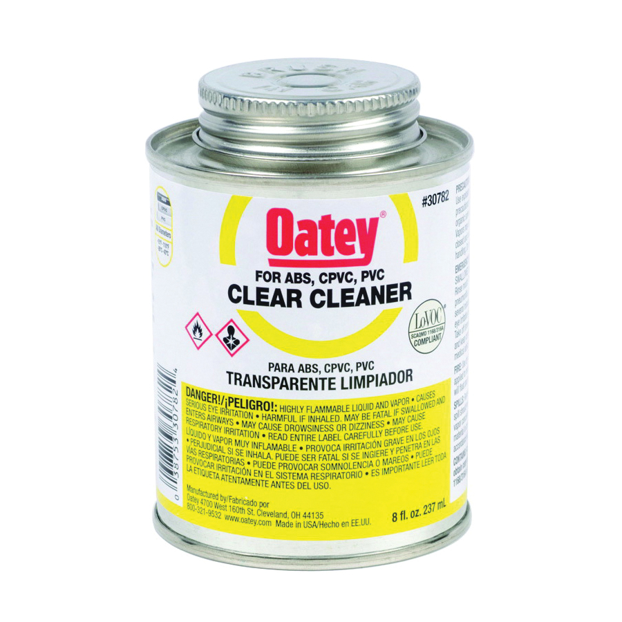 Picture of Oatey 30782 Pipe Cleaner, Liquid, Clear, 8 oz Package, Can
