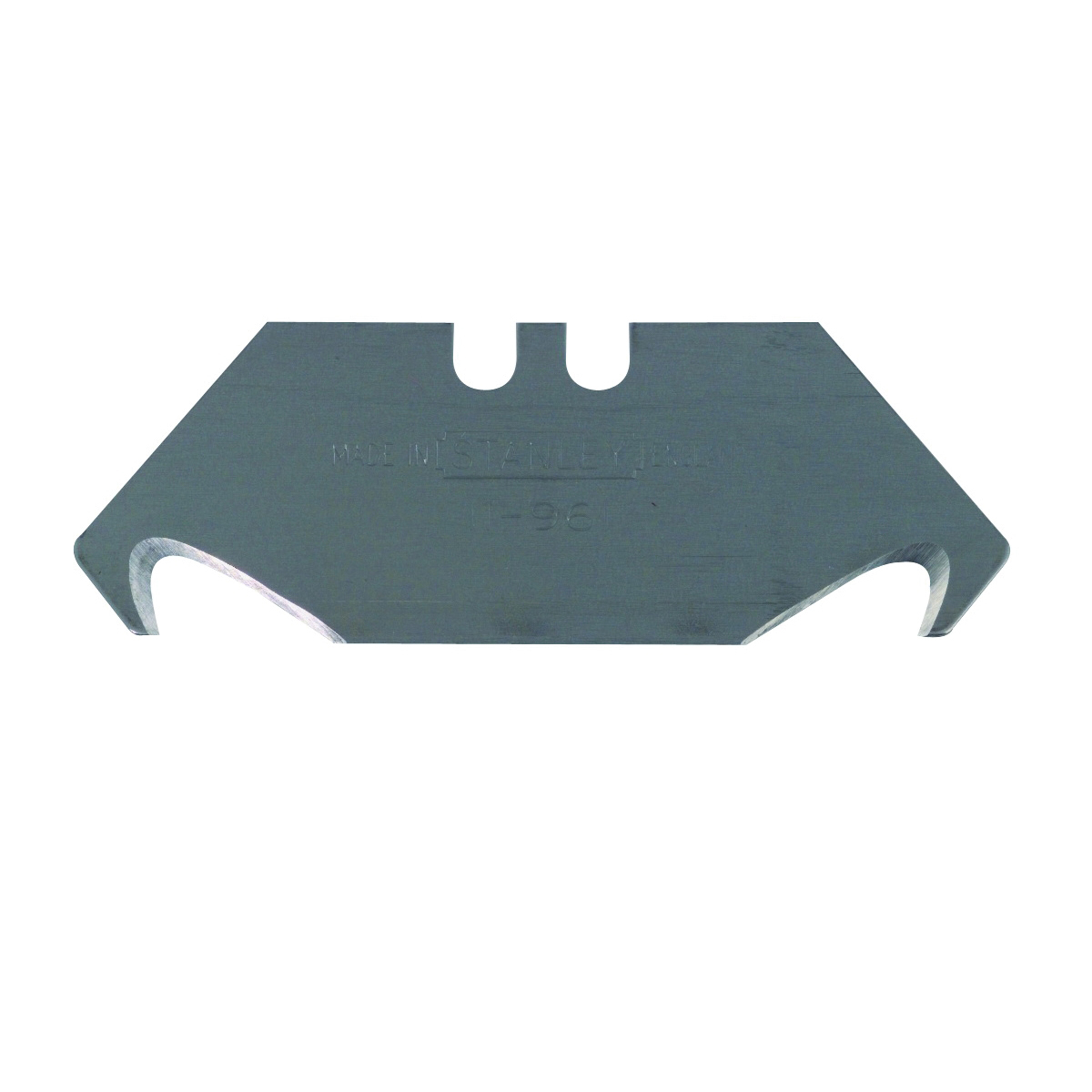 Picture of STANLEY 11-961A Hook Blade, 2-1/16 in L, Carbon Steel, 2 -Point, 100/PK, Carded