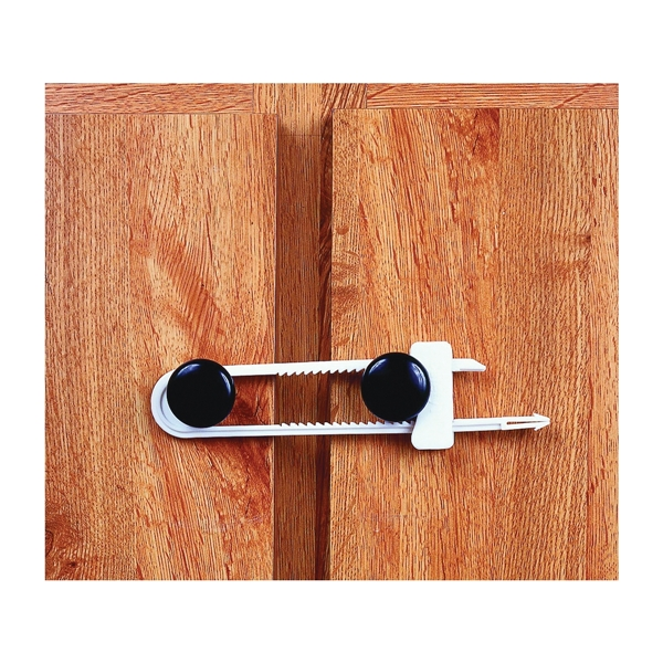 Picture of Safety 1st 11002 Cabinet Slide Lock, 2-1/4 in W, Plastic, White