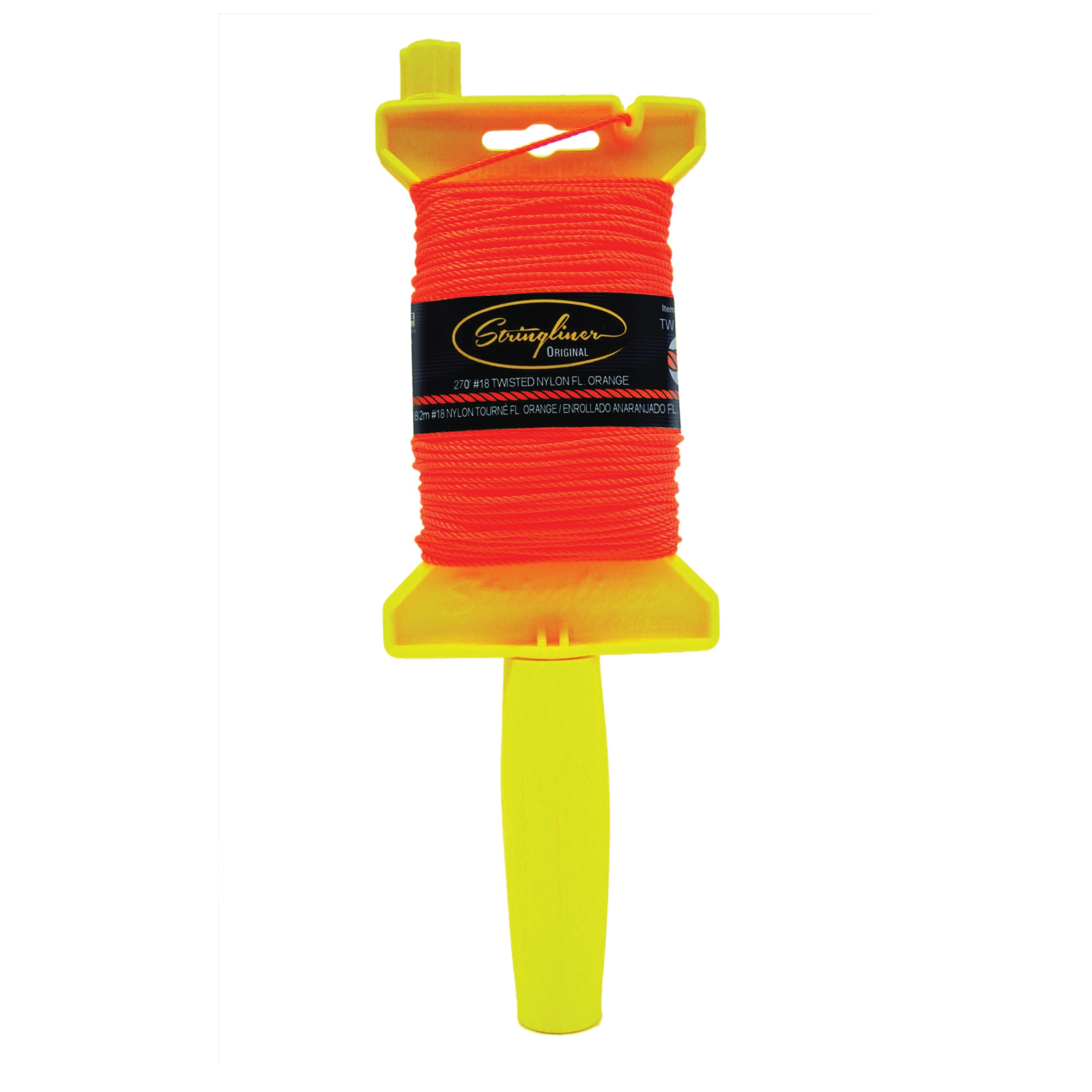 Picture of Stringliner 11406 Line Reel, 270 ft L Line, Fluorescent Orange Line