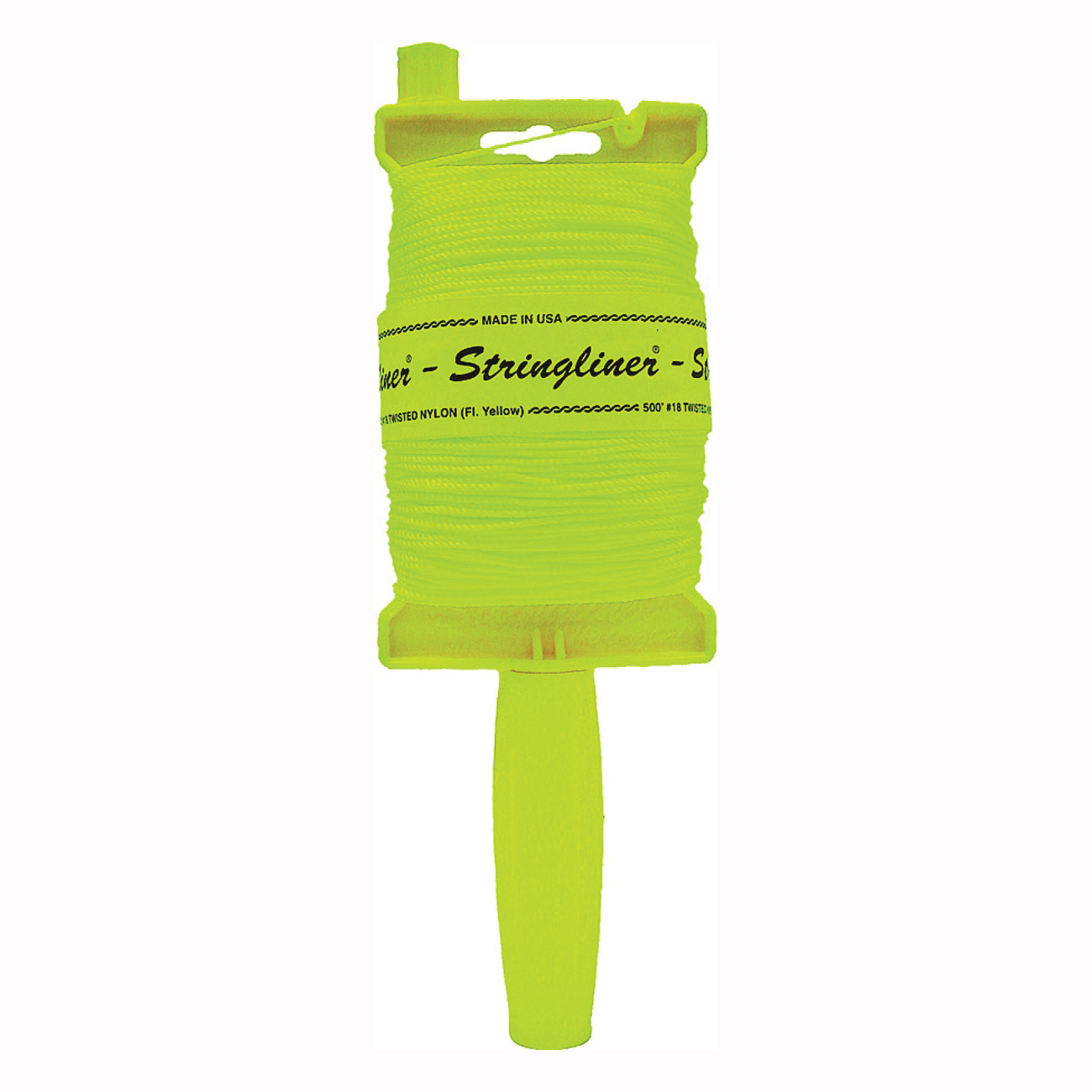 Picture of Stringliner 11712 Line Reel, 500 ft L Line, Fluorescent Yellow Line