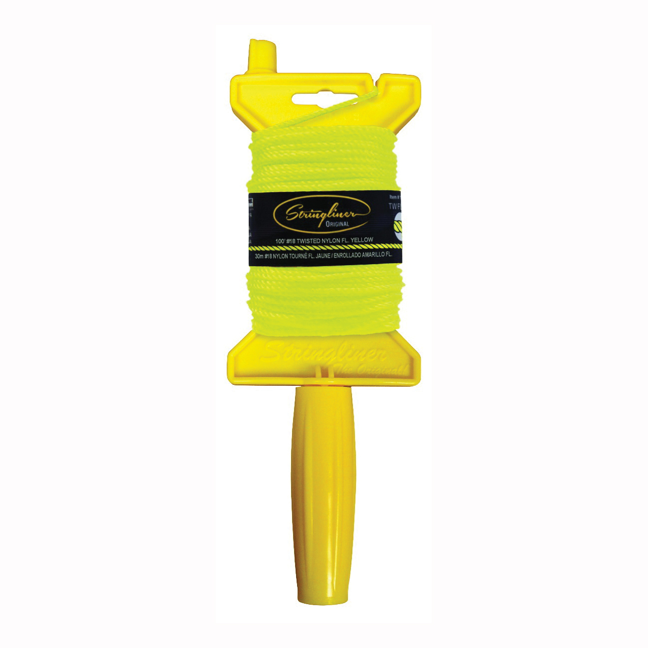 Picture of Stringliner 11112 Line Reel, 100 ft L Line, Fluorescent Yellow Line