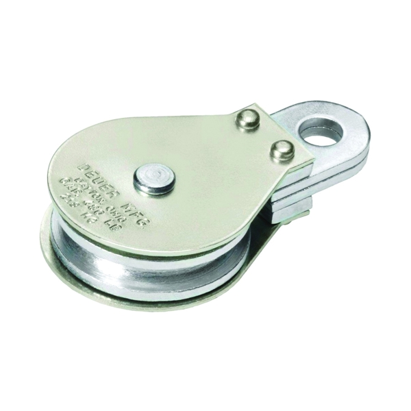 Picture of DEUER DB-15G Gable Block, 1/4 in Rope, 480 lb Working Load, 2 in Sheave, Zinc