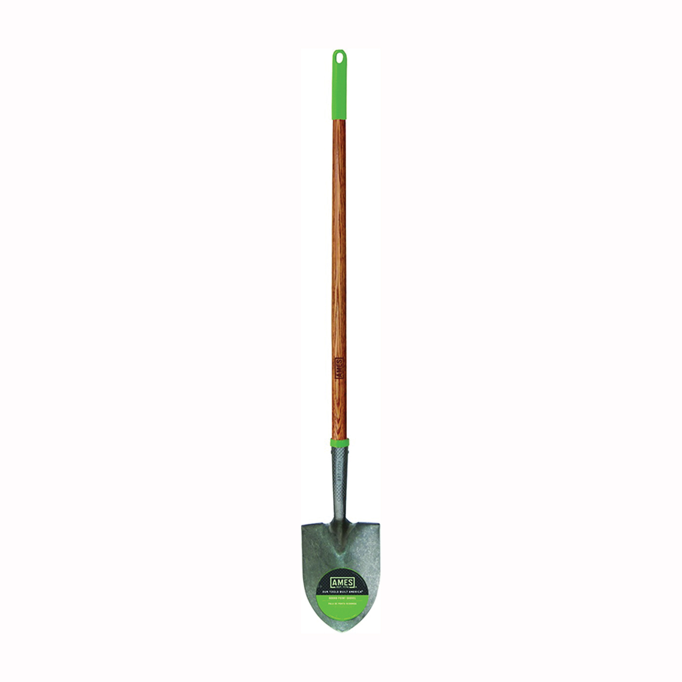 Picture of AMES 2916100 Floral Shovel, 6 in W Blade, Steel Blade, Hardwood Handle, Long Handle, 43 in L Handle