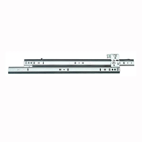 Picture of Knape & Vogt 1260P-20 Drawer Slide, 60 lb, 20 in L Rail, 1/2 in W Rail, Steel, Zinc