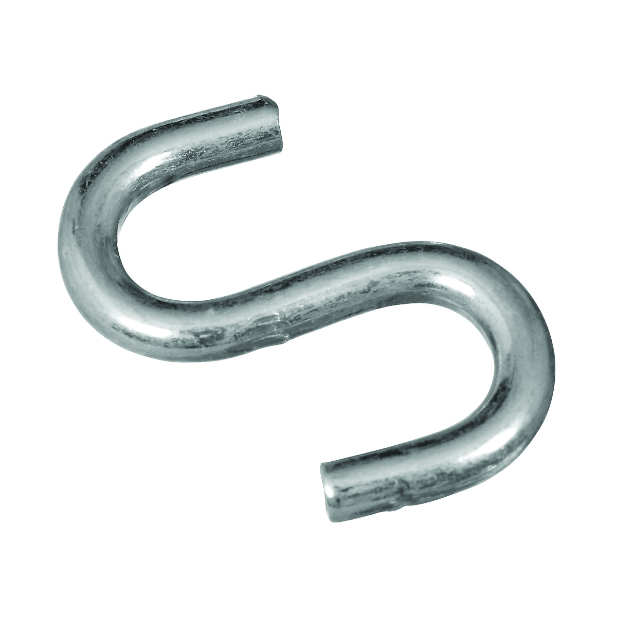 Picture of National Hardware N273-417 S-Hook, 40 lb Working Load, 0.177 in Dia Wire, Steel, Zinc