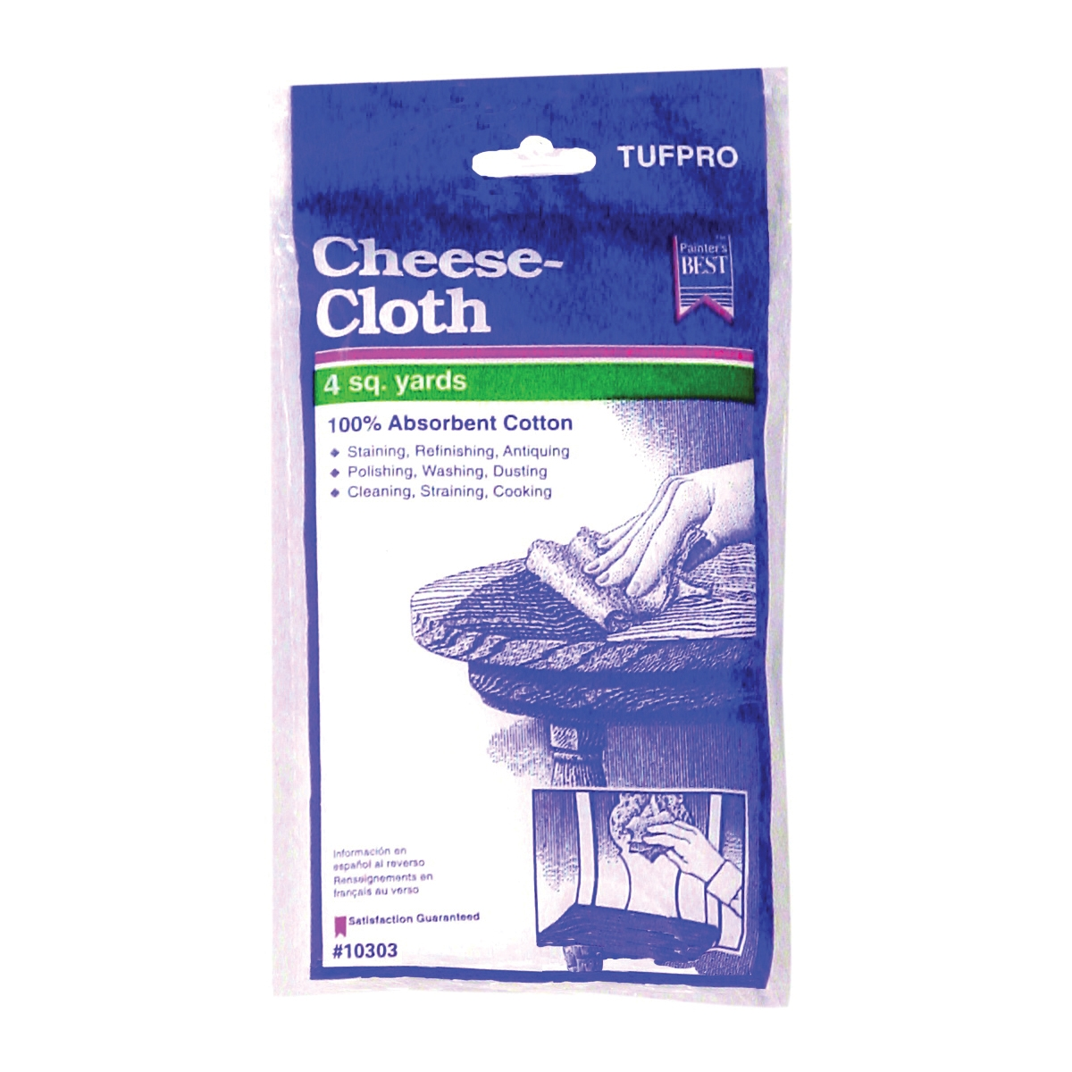 Picture of Trimaco SUPERTUFF 10303 Cheese Cloth, Cotton, White, 12, Pack