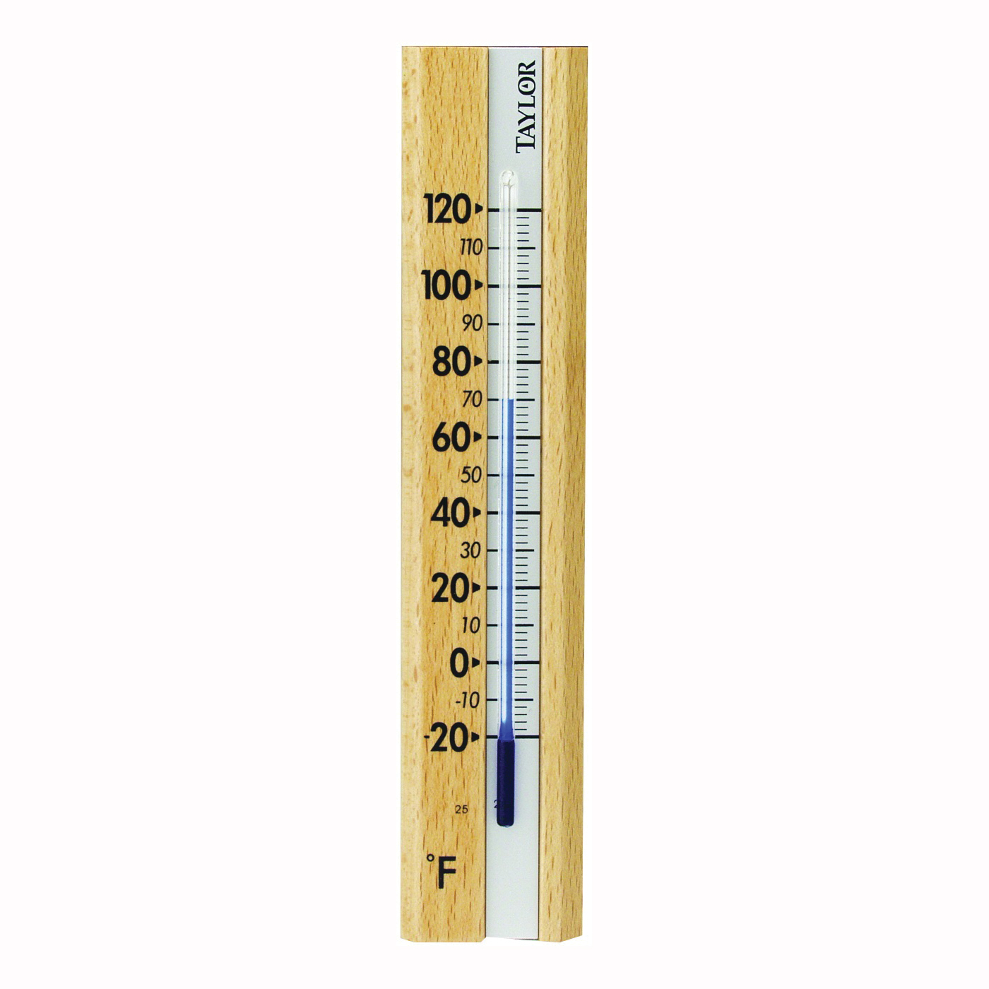 Picture of Taylor 5141 Thermometer, -20 to 120 deg F, Wood Casing