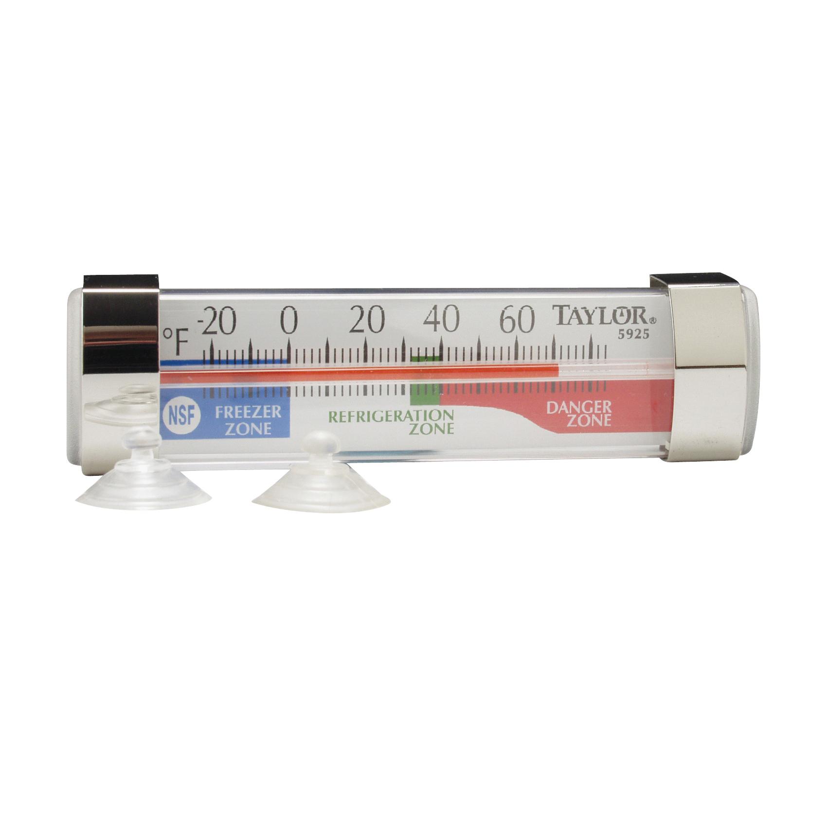 Picture of Taylor 5925N Fridge/Freezer Thermometer, -20 to 80 deg F, Analog Display, White