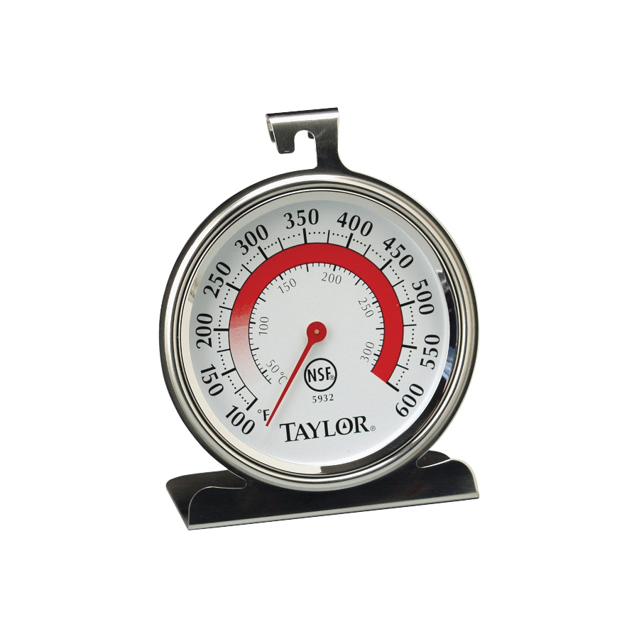 Picture of Taylor 5932 Oven Thermometer, 100 to 600 deg F, Analog Display