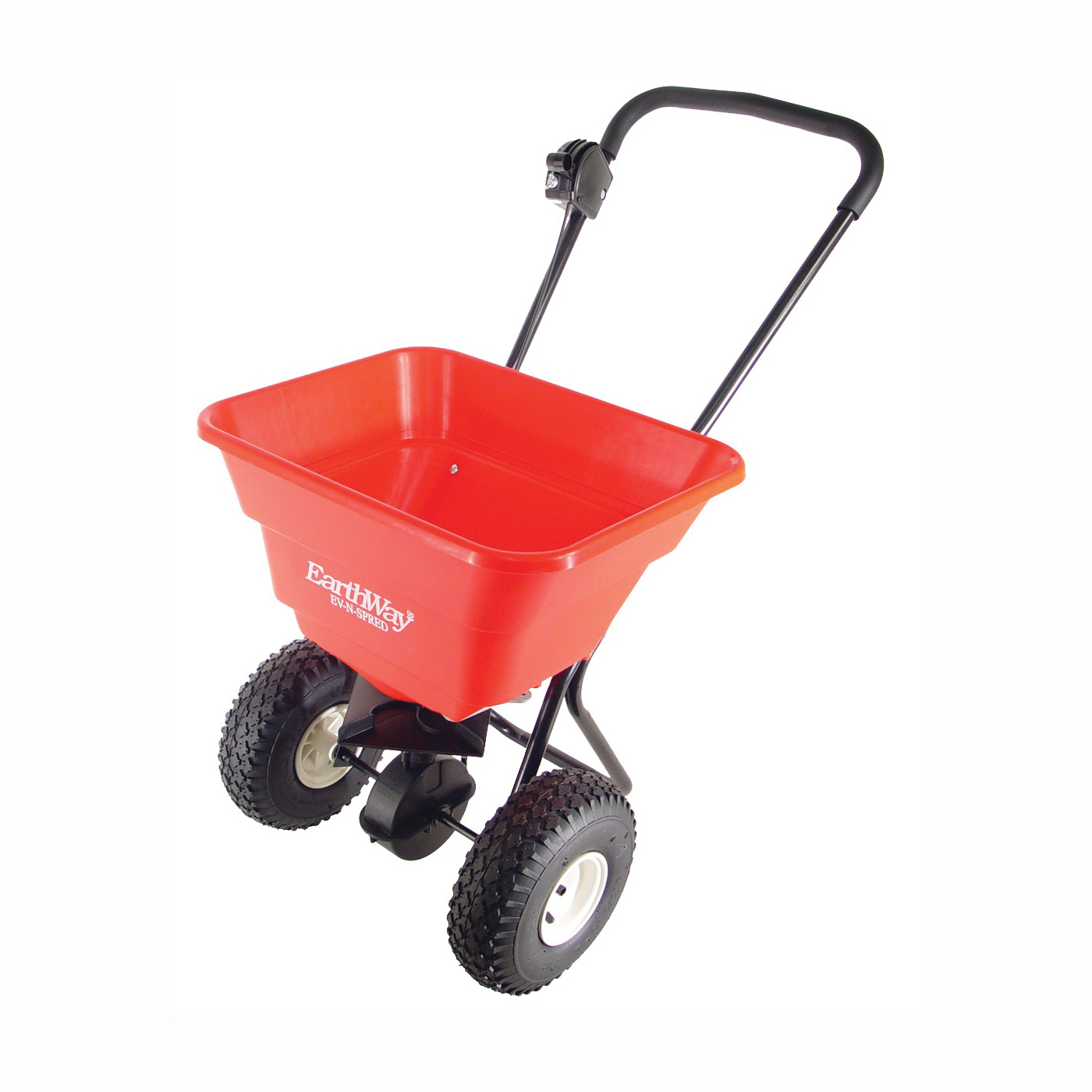 Picture of EarthWay 2050P Broadcast Spreader, 12 ft W Spread, 80 lb Capacity, Poly Hopper, Pneumatic Wheel