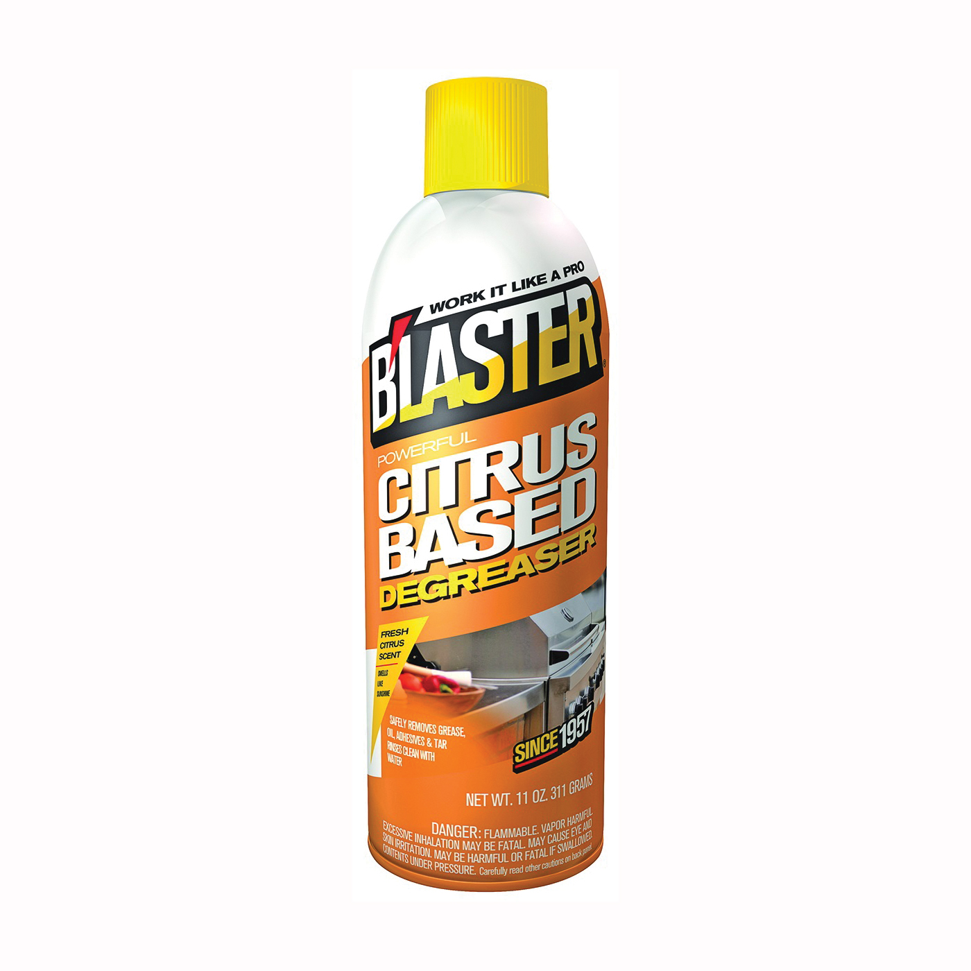 Picture of B'laster 16-CBD Degreaser, 11 oz Package, Aerosol Can, Liquid, Citrus