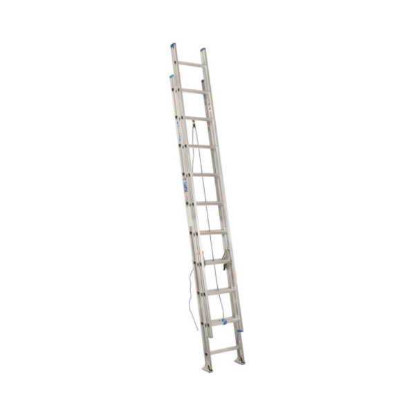 Picture of WERNER D1340-2 Extension Ladder, 37 ft H Reach, 250 lb, Aluminum