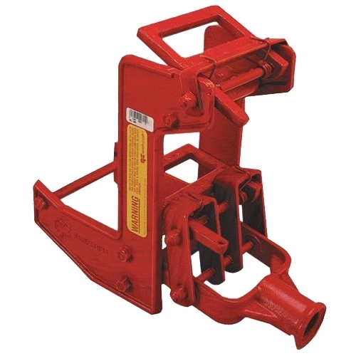 Picture of Qualcraft 2601 Wall Jack, Portable, Malleable Iron, Red, Powder-Coated