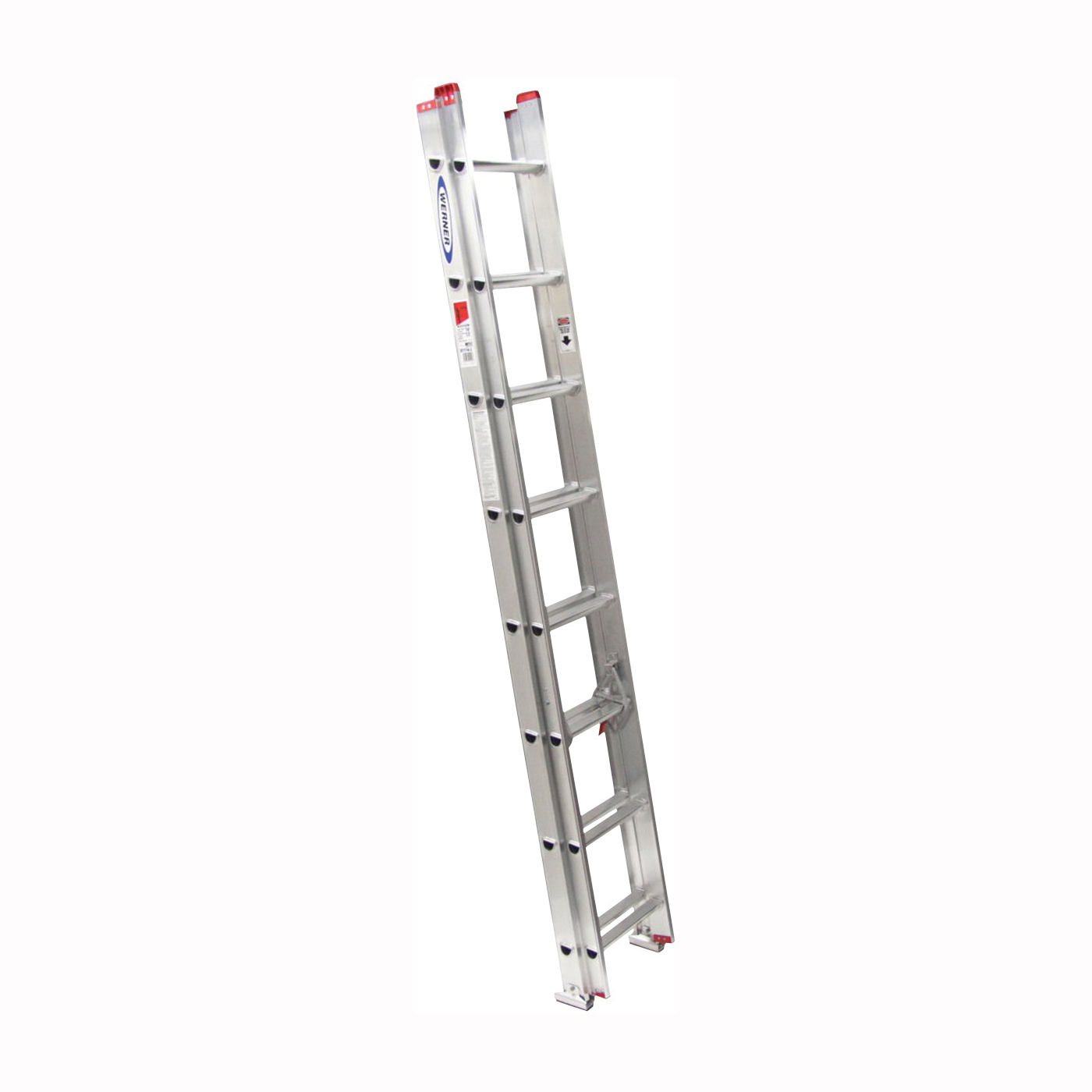 Picture of WERNER D1116-2 Extension Ladder, 15 ft H Reach, 200 lb, Aluminum