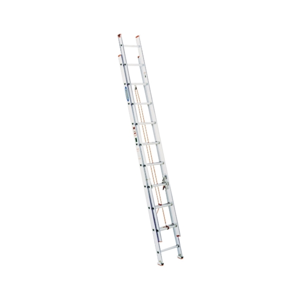 Picture of WERNER D1120-2 Extension Ladder, 19 ft H Reach, 200 lb, Aluminum