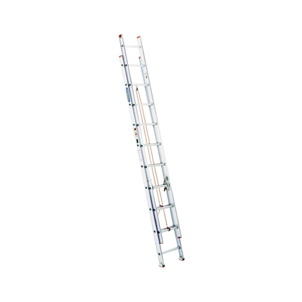Picture of WERNER D1124-2 Extension Ladder, 23 ft H Reach, 200 lb, Aluminum