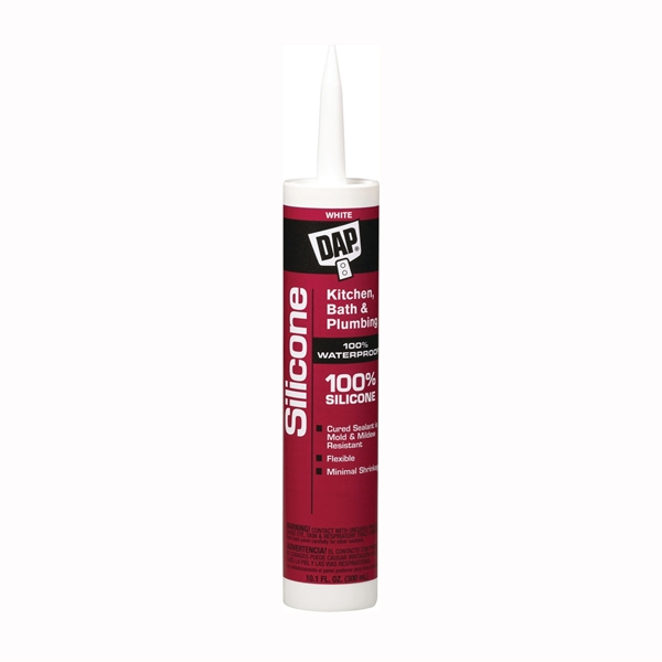 Picture of DAP 08640 Sealant, White, 24 hr Curing, -40 to 400 deg F, 10.1 oz Package, Tube