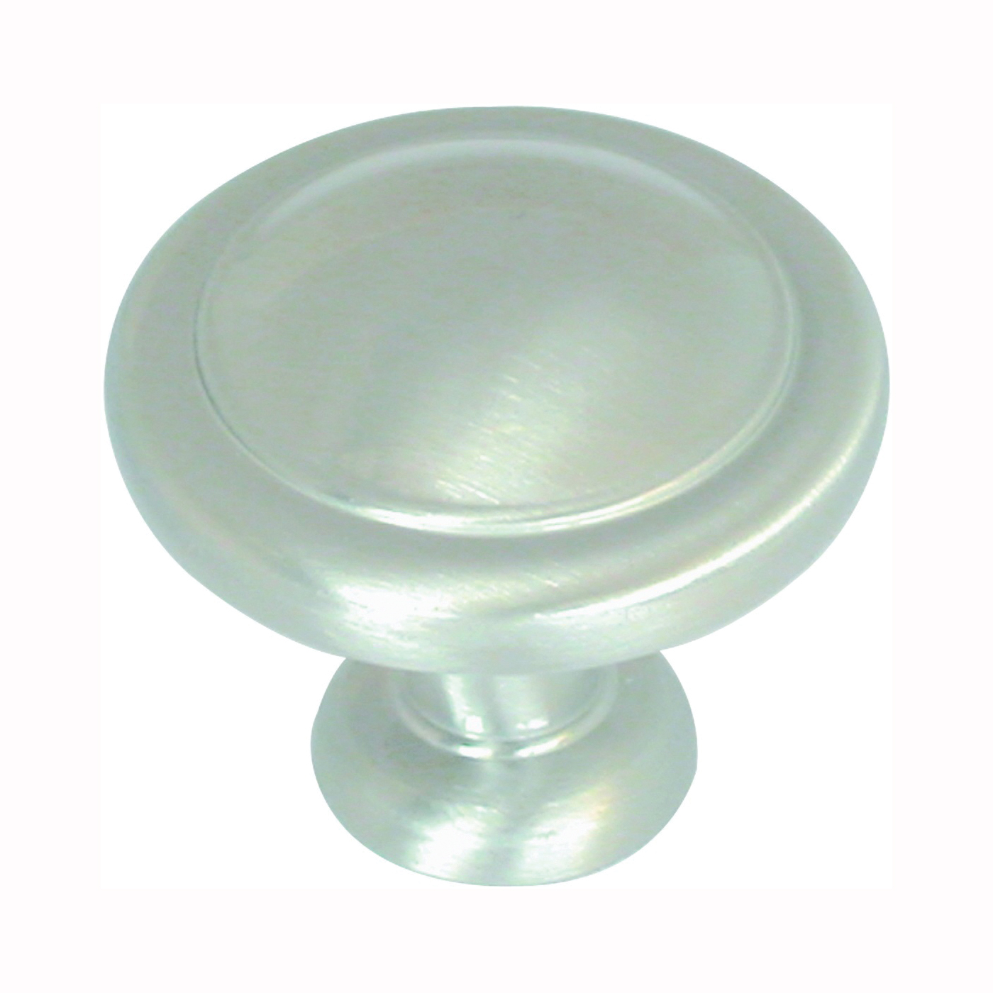 Picture of Amerock BP1387G10 Cabinet Knob, 1-1/16 in Projection, Zinc, Satin Nickel