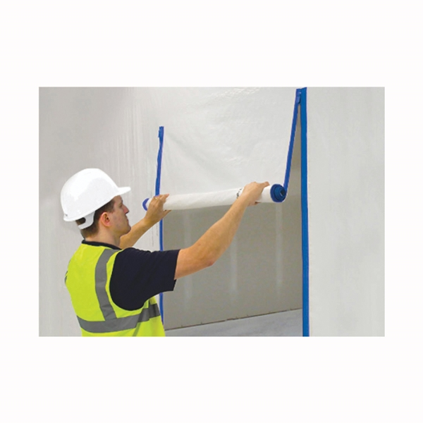 Picture of SURFACE SHIELDS Zip N Close ZC02 Zipper, Self-Adhesive, 7 ft L, 3 in W, Polyester, Blue