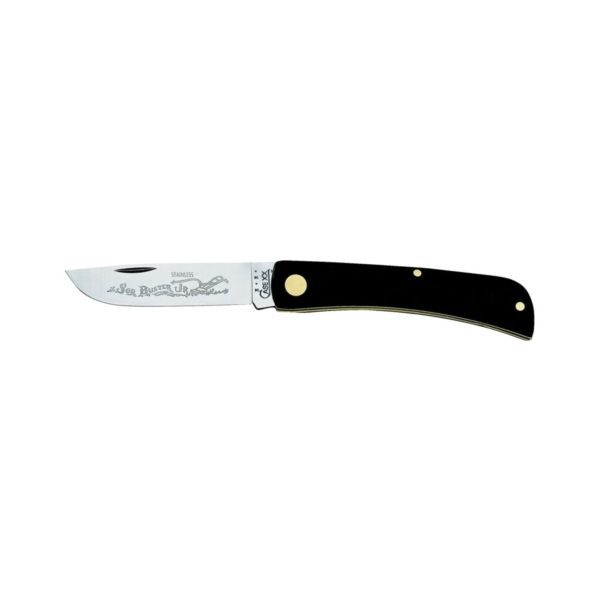 Picture of CASE 00095 Folding Pocket Knife, 2.8 in L Blade, Stainless Steel Blade, 1 -Blade, Black Handle
