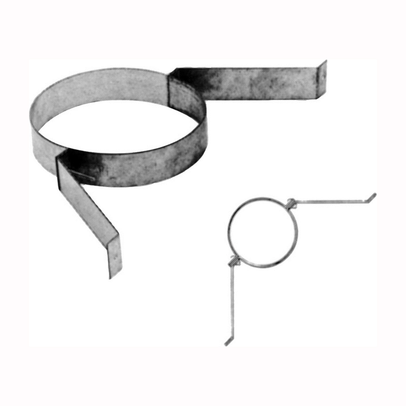 Picture of AmeriVent 6HS-SBA Wall Band Assembly, Galvanized Steel, Galvanized