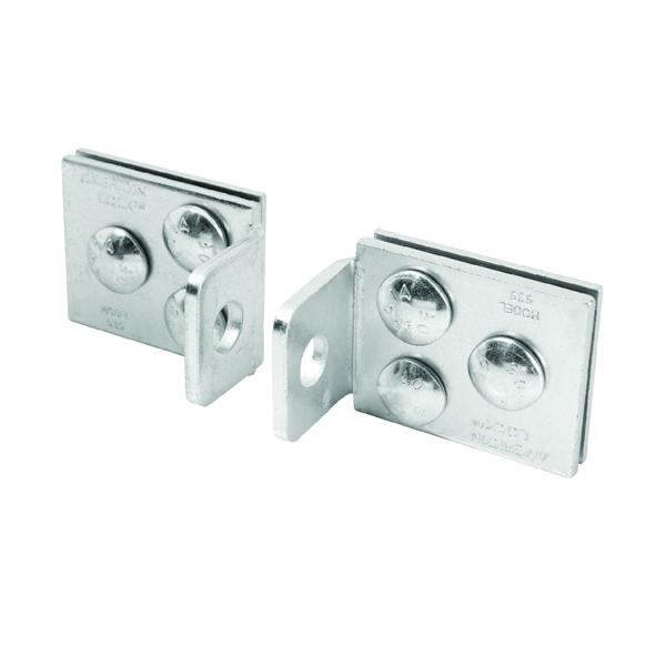 Picture of American Lock A535D Hasp Lock, 5 in L, 2 in W, Steel, Zinc, 7/16 in Dia Shackle