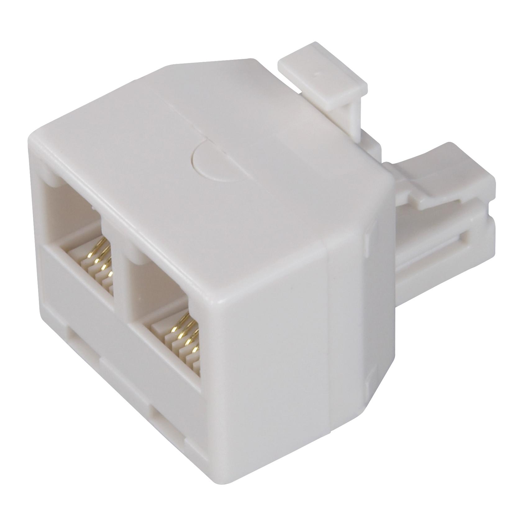 Picture of Zenith TS1001SPJ2W Telephone Splitter, 2-Port/Way, White