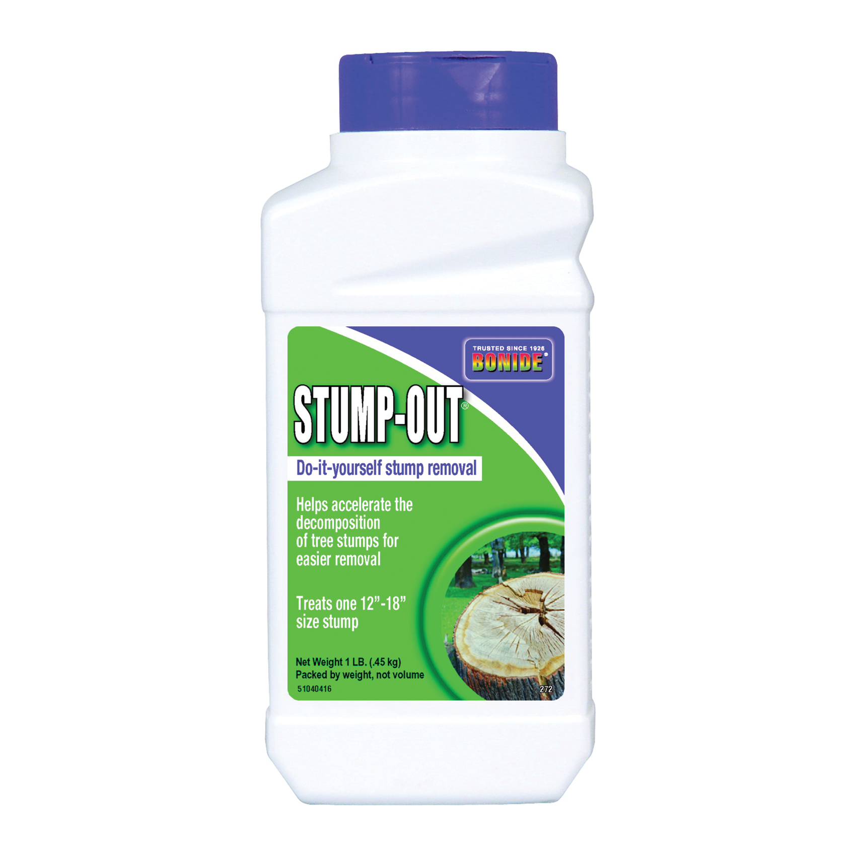Picture of Bonide 272 Stump Removal, Solid, White/Yellow, 1 lb Package, Bottle