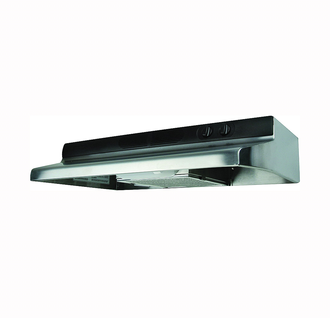 Picture of Air King Quiet Zone QZ QZ2308 Range Hood, 200 cfm, 30 in W, 12 in D, 6 in H, Cold Rolled Steel