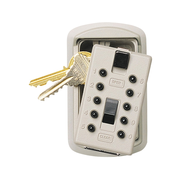 Picture of Kidde 001004 Key Safe, Combination Lock, Steel, Assorted, 2-1/4 in W x 1-3/4 in D x 3-3/4 in H Dimensions