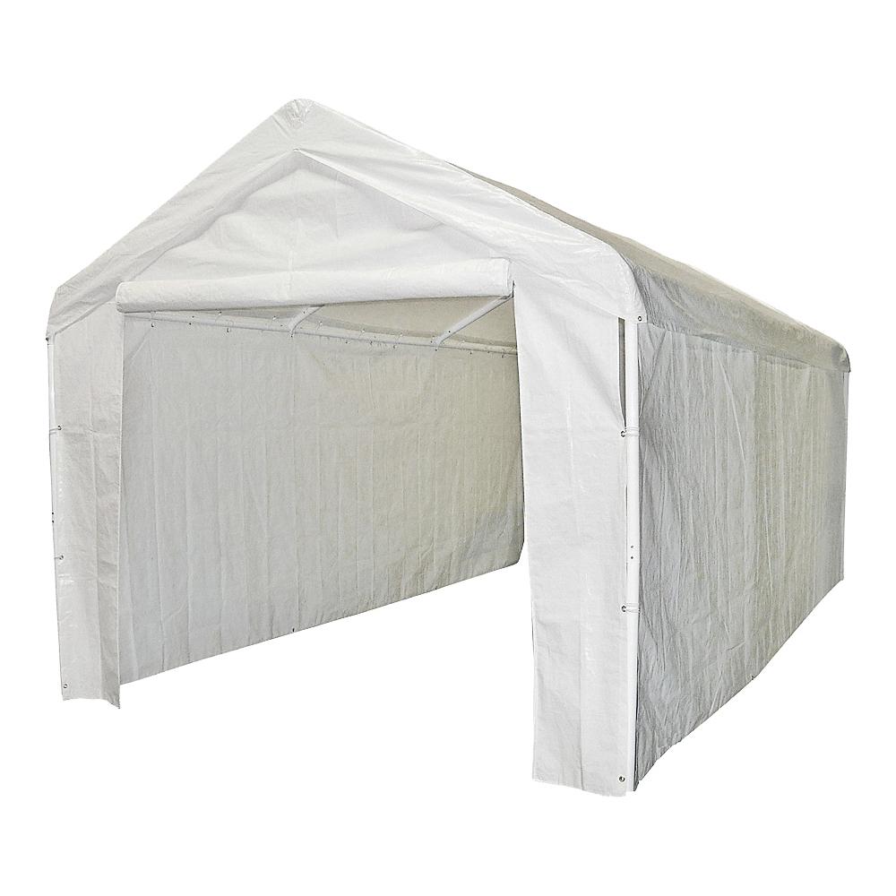 Picture of Caravan Canopy 12000211010 Sidewall/Enclosure Kit, 10 ft W Exterior, 20 ft D Exterior, 6 ft H Exterior, Rectangle
