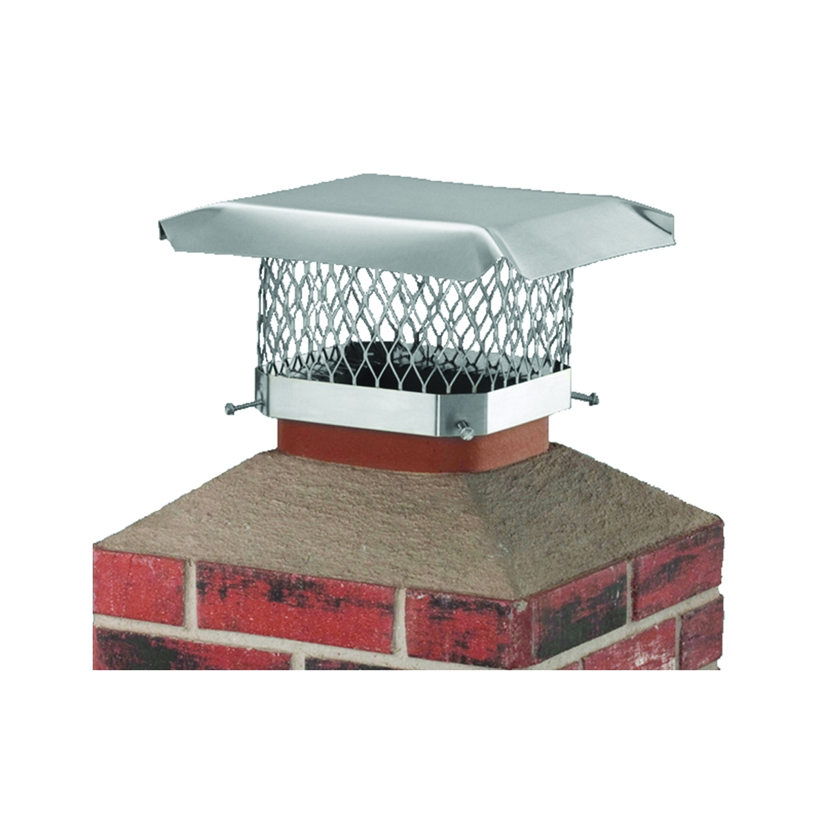 Picture of SHELTER SCSS913 Chimney Cap, Stainless Steel, Fits Duct Size: 7-1/2 x 11-1/2 to 9-1/2 x 13-1/2 in