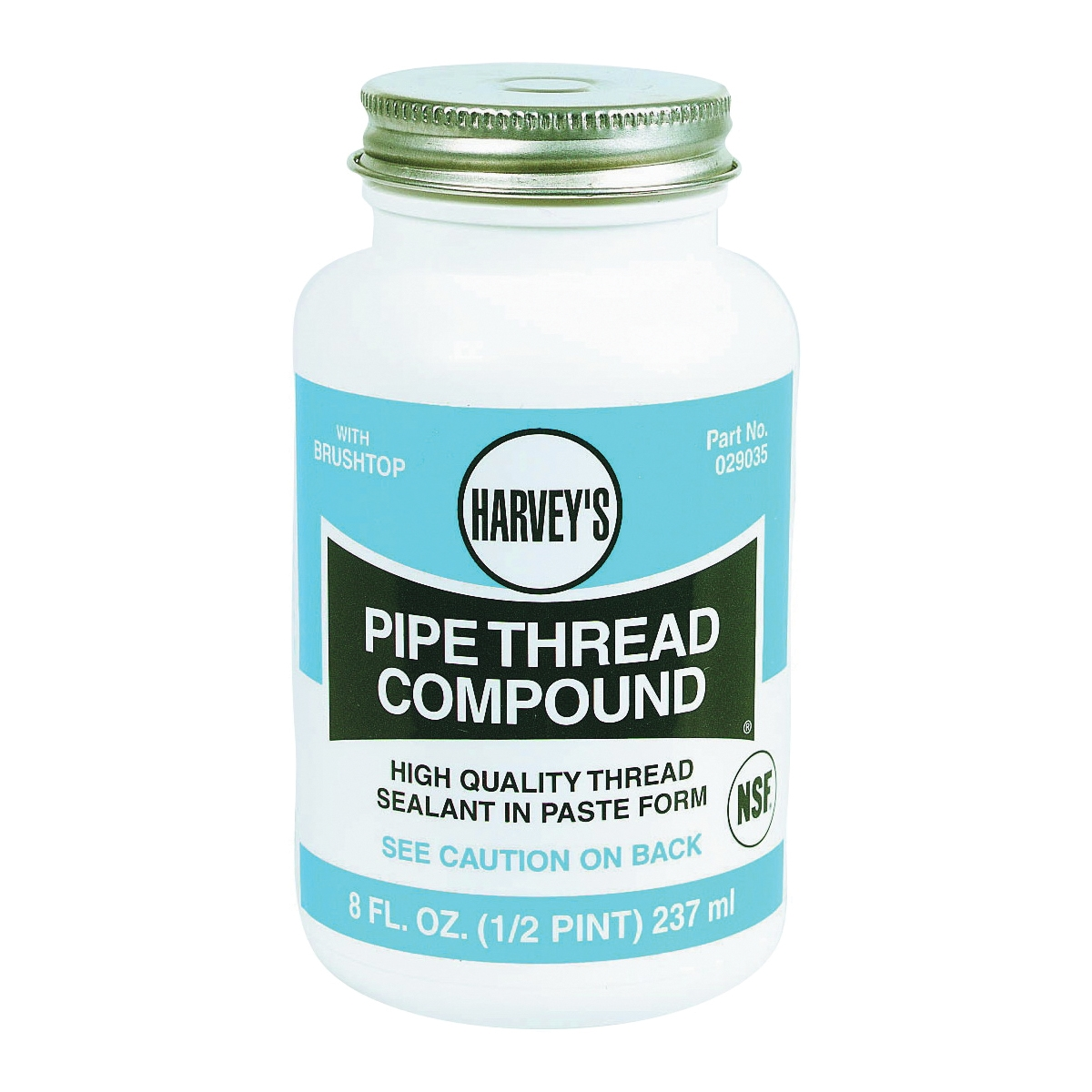 Picture of HARVEY 029035 Pipe Thread Compound, 8 fl-oz, Jar, Thick Paste, Gray