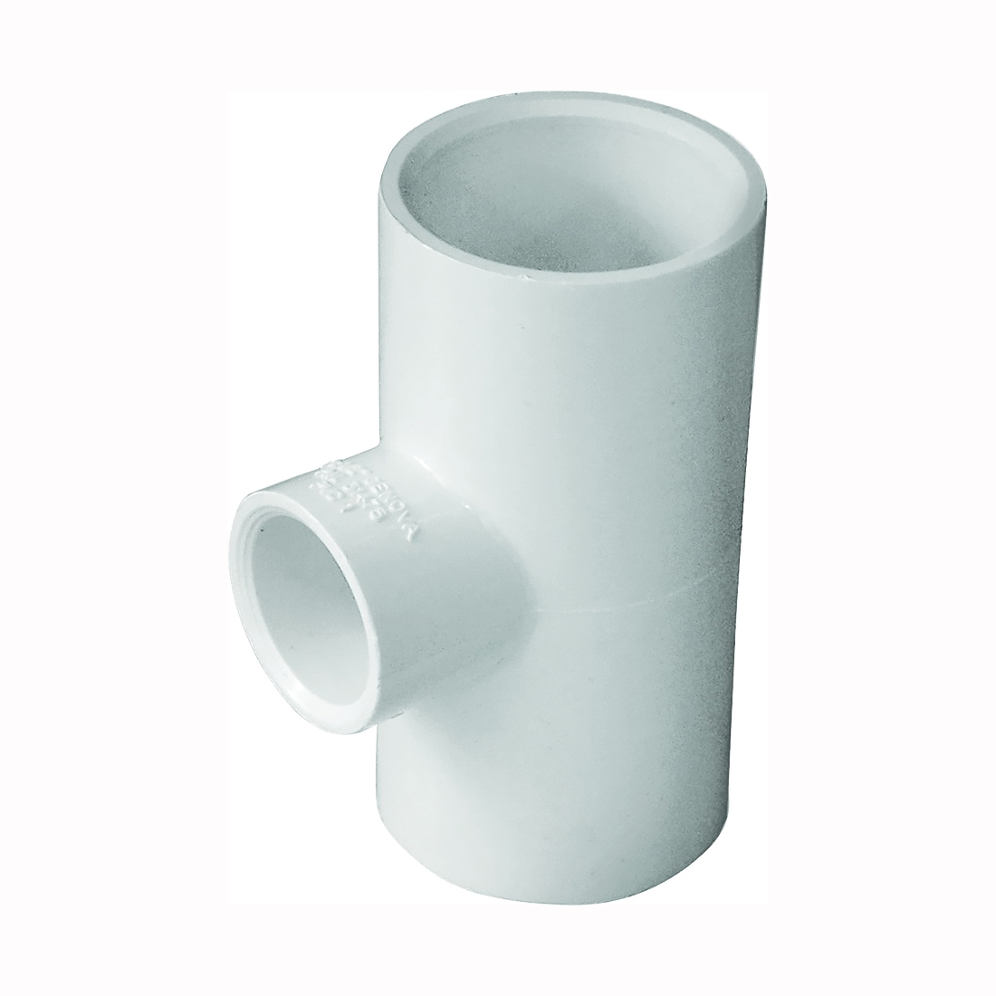 Picture of GENOVA 300 Series 31475 Pipe Reducing Tee, 1 in Run, Slip Run Connection, 1/2 in Branch, White