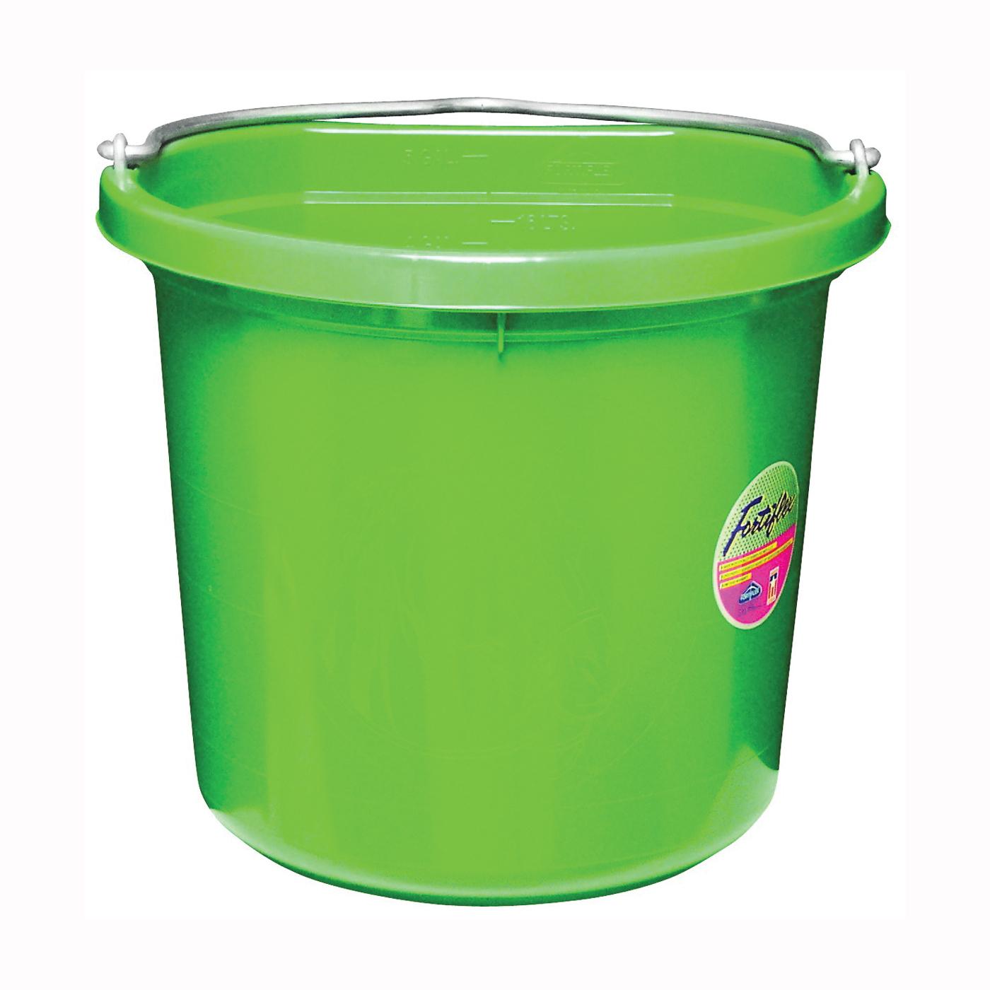 Picture of FORTEX-FORTIFLEX FB-120 Series FB-120GR Bucket, 20 qt Volume, Rubber/Polyethylene, Green