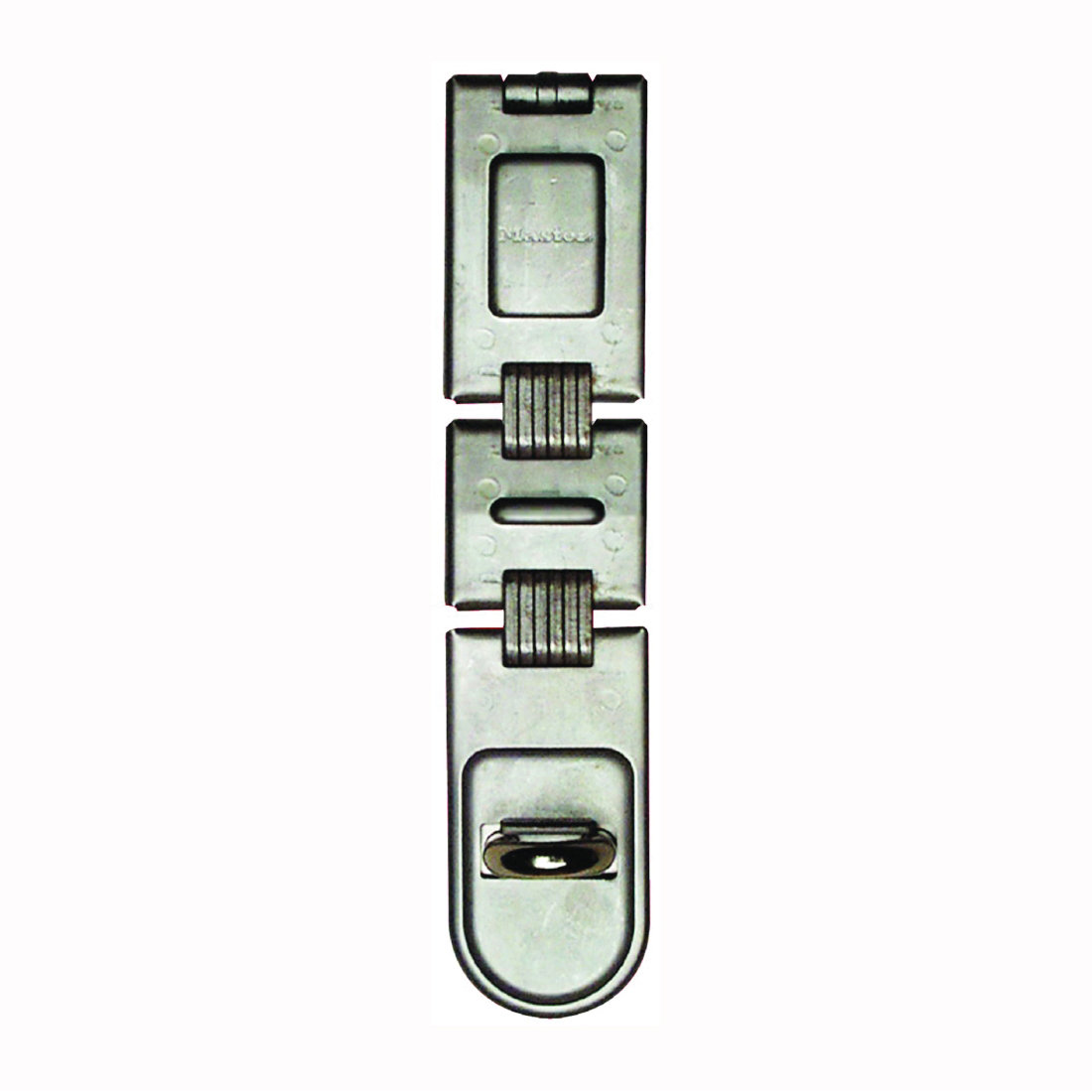 Picture of Master Lock 722DPF Latching Hasp, 7-3/4 in L, 11/16 in W, Steel, Zinc, 7/16 in Dia Shackle