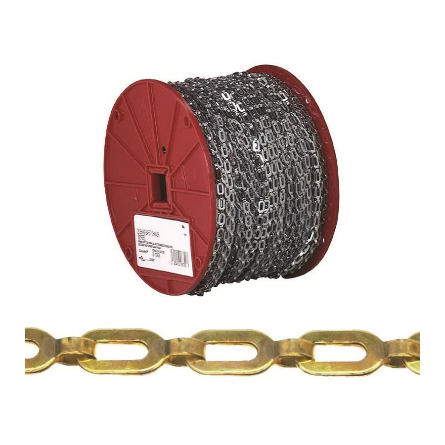 Picture of Campbell 0723817 Plumber Chain, 1/0 Trade, 200 ft L, 35 lb Working Load, Brass, Bright, Reel