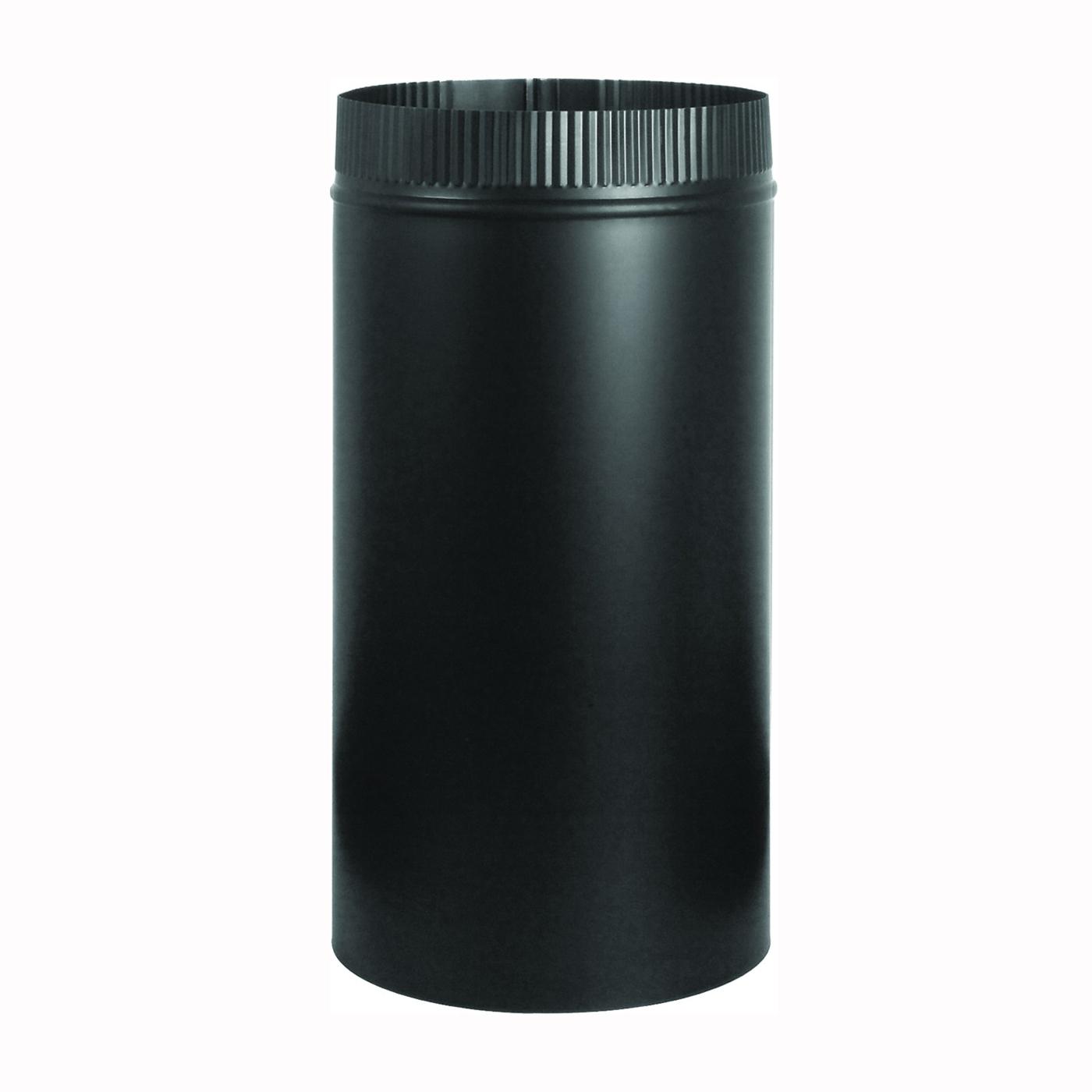 Picture of Imperial BM0101 Stove Pipe, 5 in Dia, 12 in L, Steel, Black